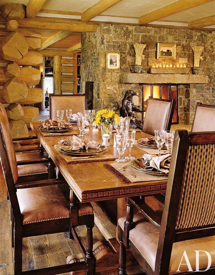 Rustic Dining Room in Snowmass Village, Colorado Home Decor
