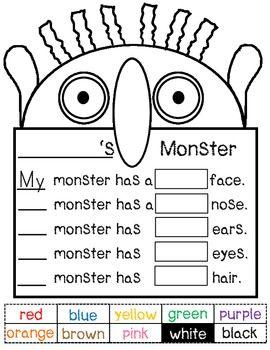 Go Away Big Green Monster Bulletin Board Writing Activity And Template Teacherspayteachers Com Big Green Monster Writing Activities Green Monsters