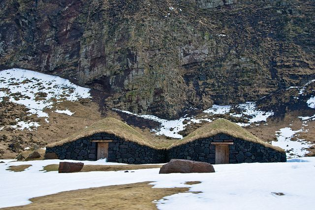 Hobbit houses in Westmann Islands, Iceland