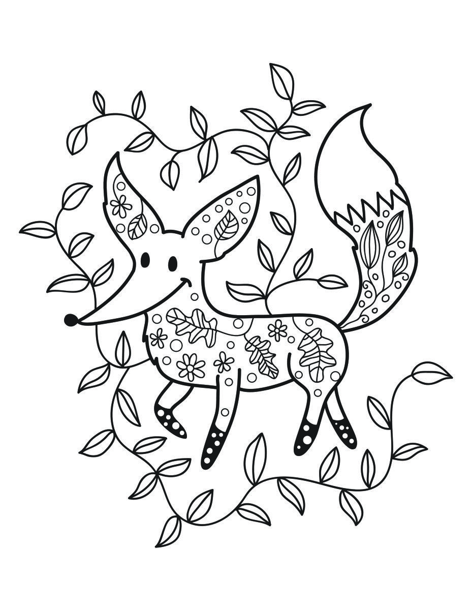 Coloriage de petit renard automne gratuit coloriage 4 coloriage petit renard et coloriage - Masque de renard a imprimer ...
