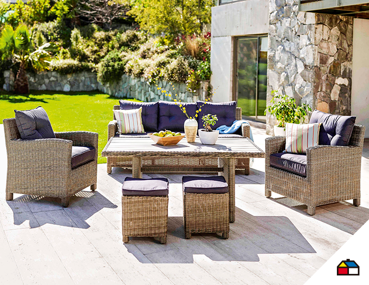 ¡Decora tu terraza con los mejores juegos de muebles! #Sodimac #Homecenter #Perú #aire #libre #terraza #balcones #primavera #temporada #estación #hogar #inspiración #decoracion #homedecor