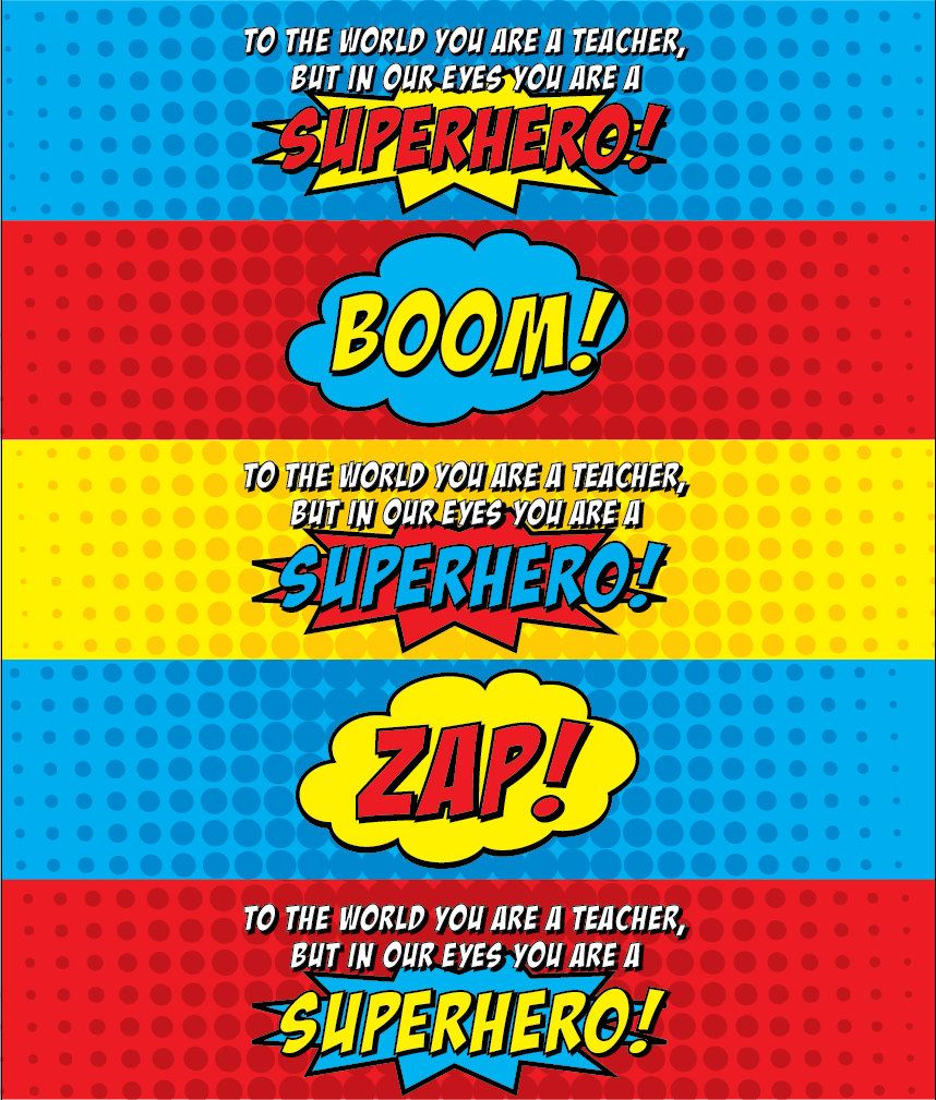 superhero water bottle labels template - Google Search ...