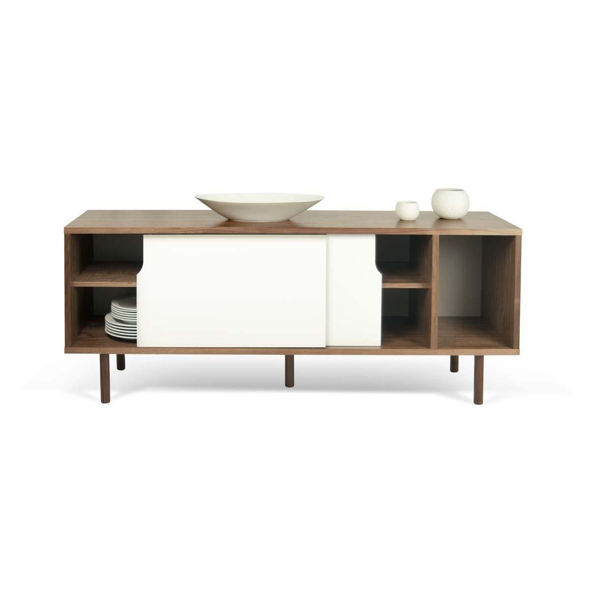 Buffet Design Dann Noyer Blanc Atylia La Redoute Dining Table  # Atylia Meuble