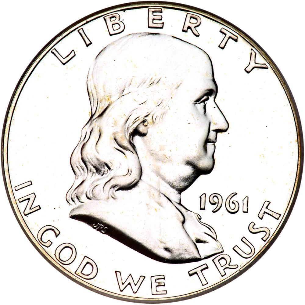 1961 franklin 50c dbld die pcgs proof 66 a nice white proof Ben Franklin Half Dollar 1961 franklin 50c dbld die pcgs proof 66 a nice white proof estimated