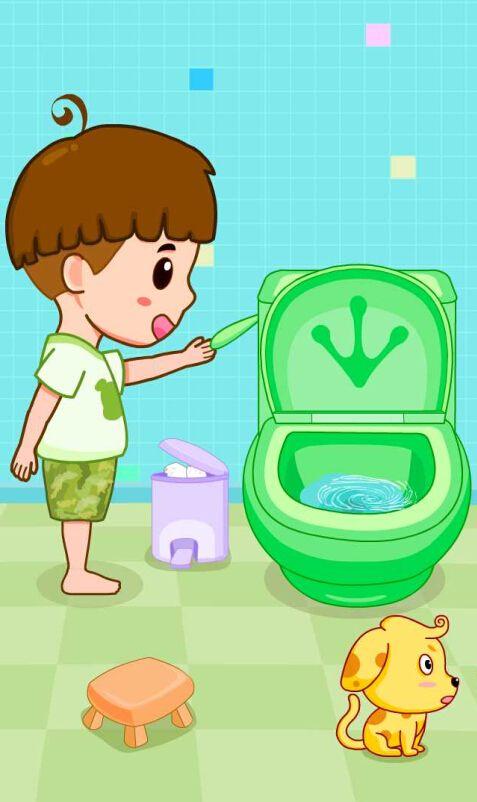 N 39 oublies pas de tirer la chasse d 39 eau dans aux toilettes comme un grand babybus https - La chasse d eau ...