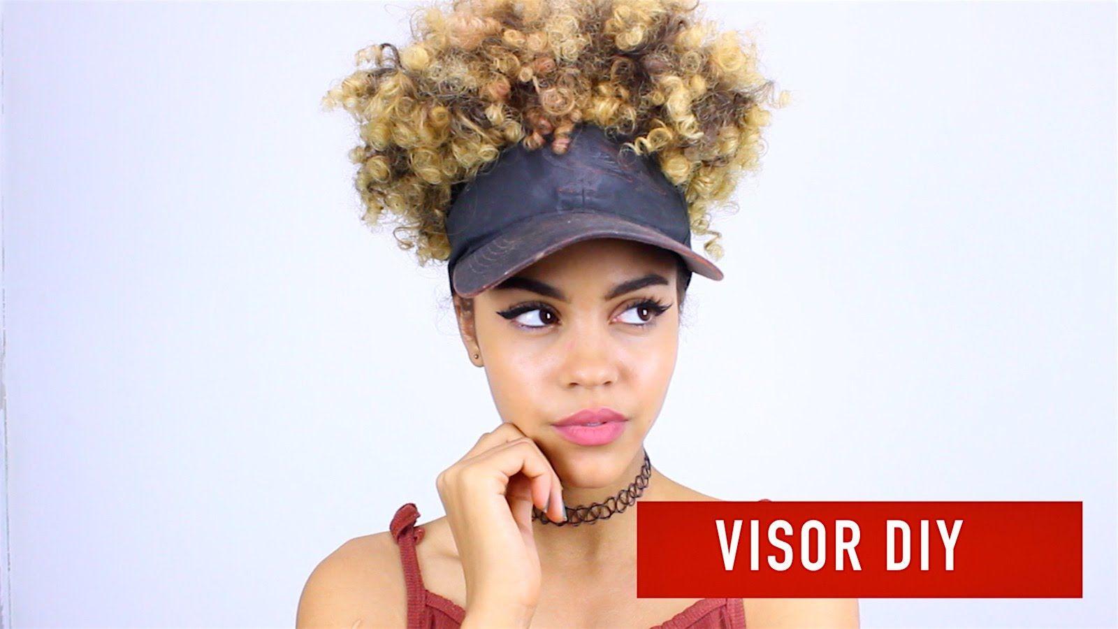Diy Visor 3 Visor Curly Hairstyles Natural Hair Bun