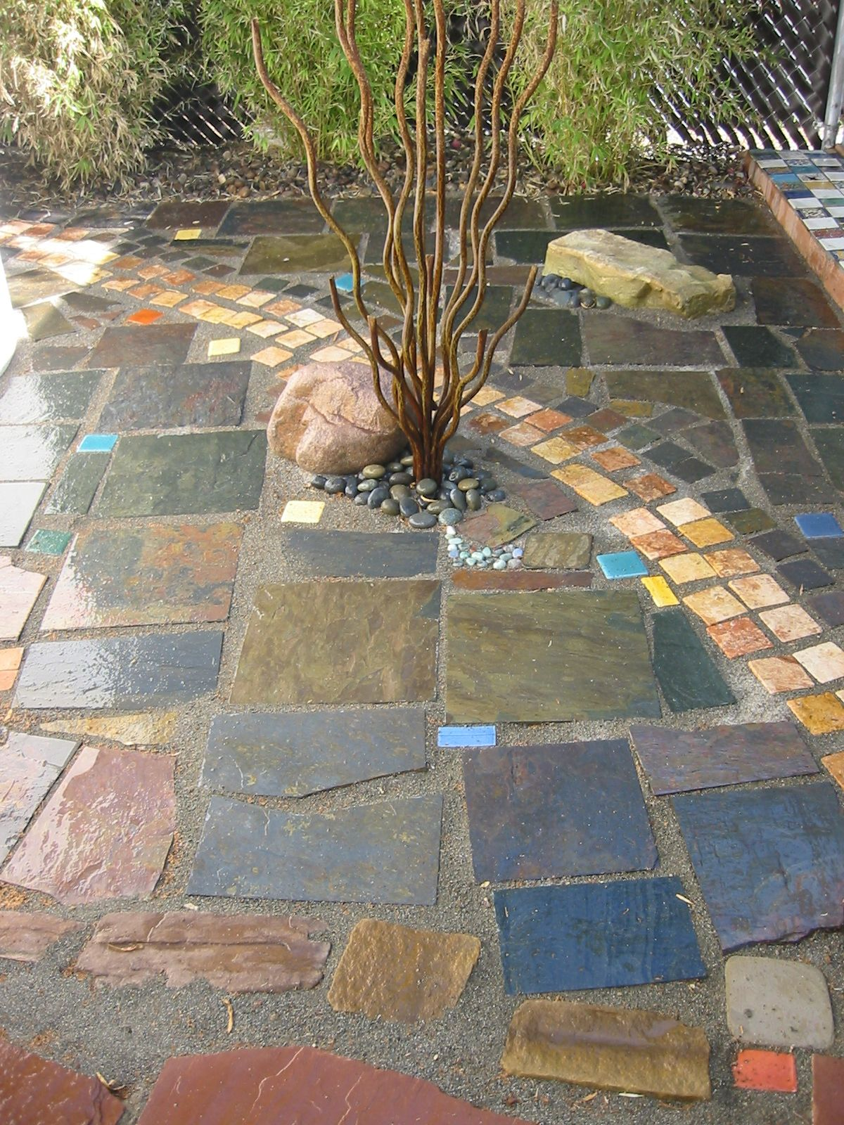 mosaic patio me my house and cats patio tiles patio flooring patio. Black Bedroom Furniture Sets. Home Design Ideas