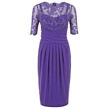 745a573d08a Buy Kaliko Lace And Jersey Dress, Dark Purple Online at johnlewis.com