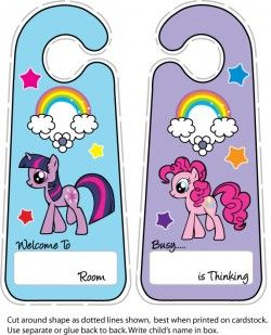 Free Printable My Little Pony Door Hanger 2 My Little