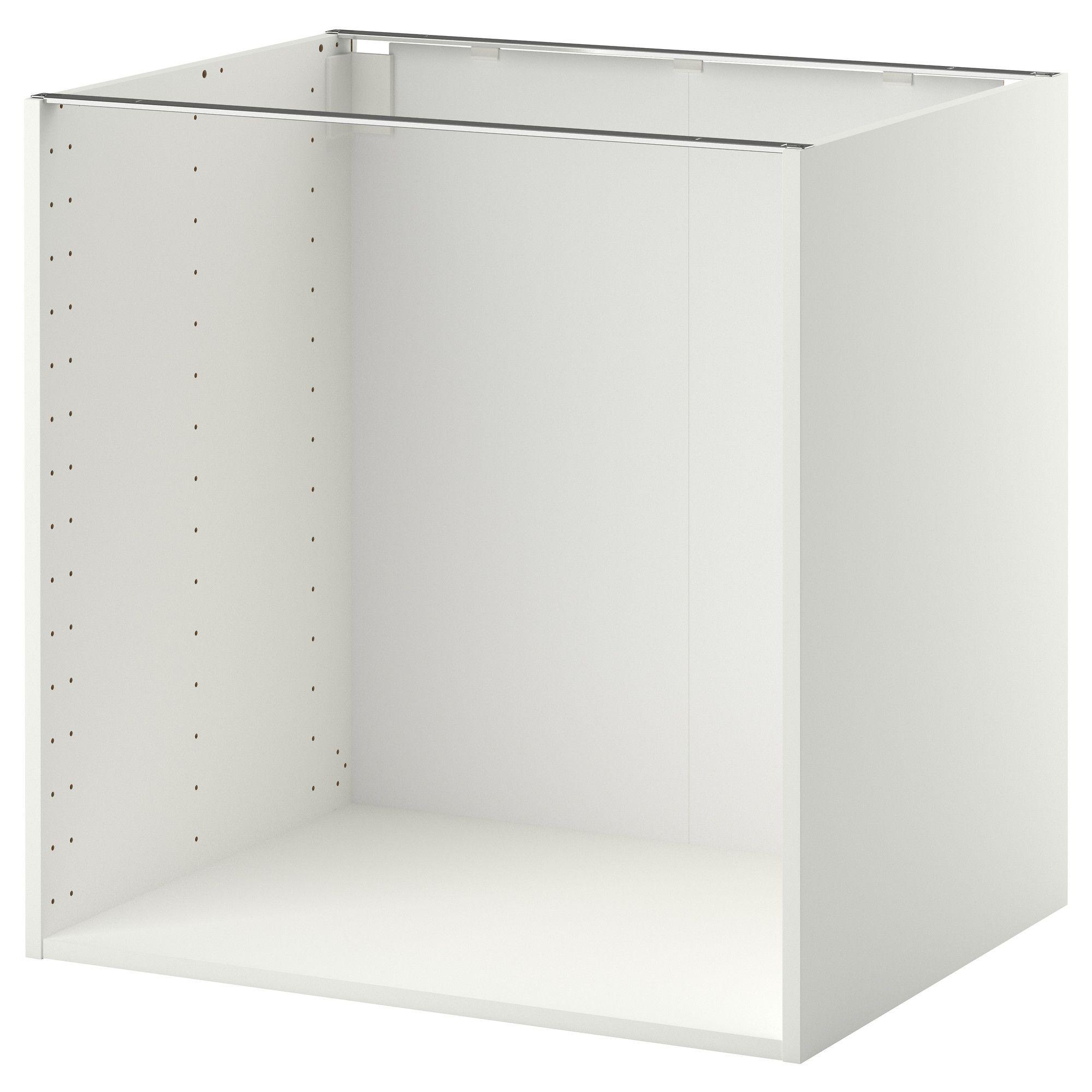 Fabelhaft Badunterschränke Foto Von Metod Base Frame White 80x60x80 Cm