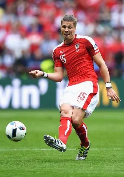 Sebastian Proedl of Austria in action during the UEFA EURO 2016 Group F match between Iceland and Austria at Stade de France on June 22, 2016 in Paris, France.