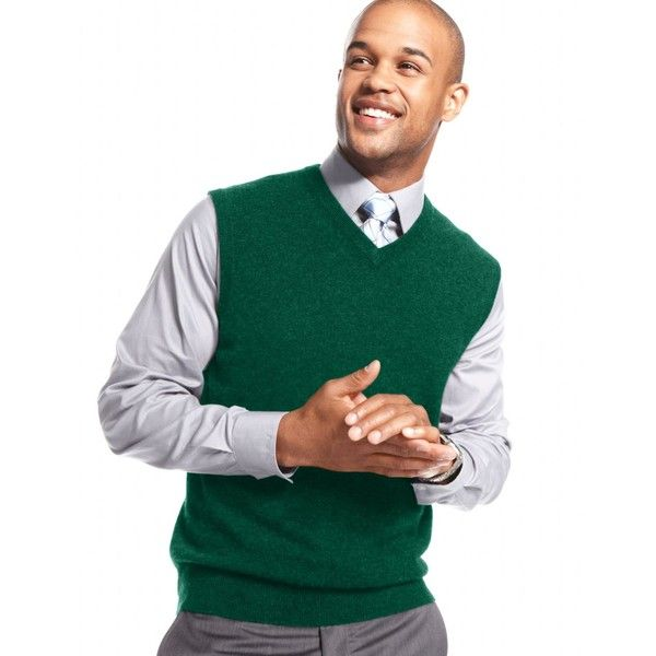 Club Room Men's Big and Tall Cashmere Solid Sweater Vest ($70 ...
