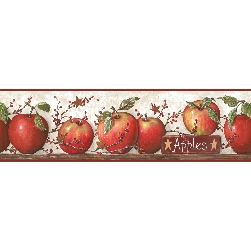 York Wallcoverings Apple Wallpaper Border CB5557BD Apple