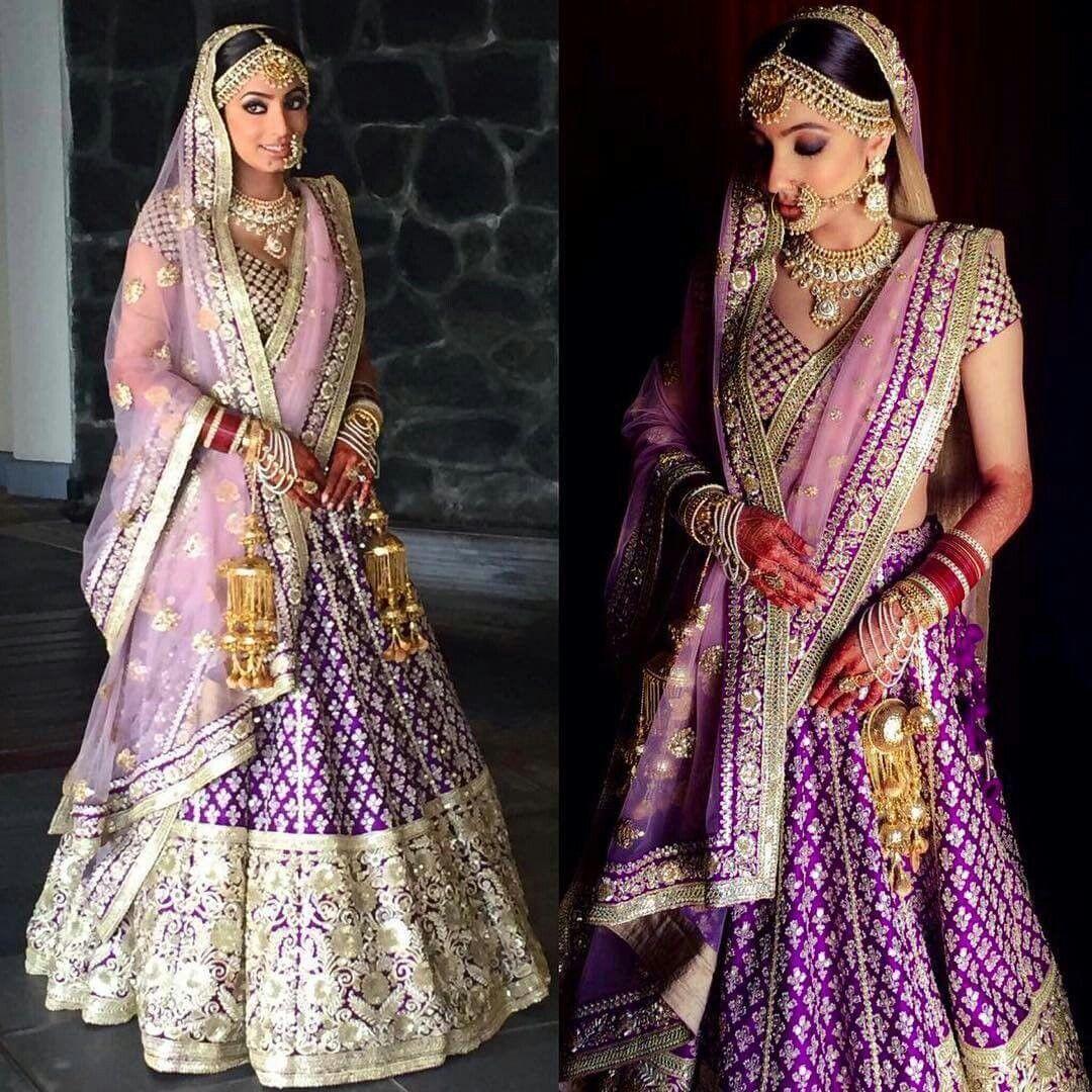 Purple Bridal Lehenga Indian Wedding Outfits Indian Wedding