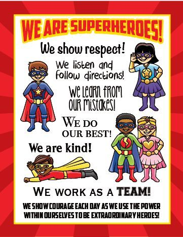 See Hear Do Company, LLC :: Activity Books :: Download - We Are Superheroes Poster (24in x 30in)