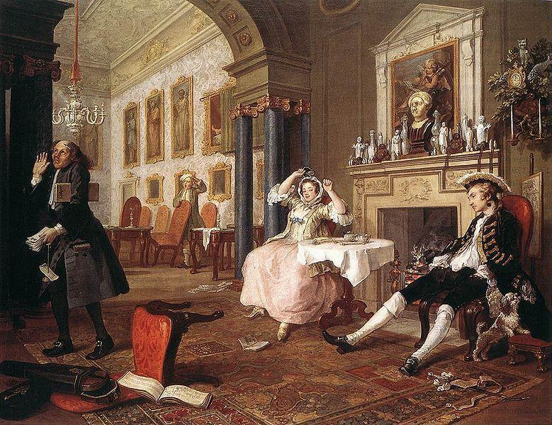 Breakfast Scene From Marriage A La Mode Series 1745 By William