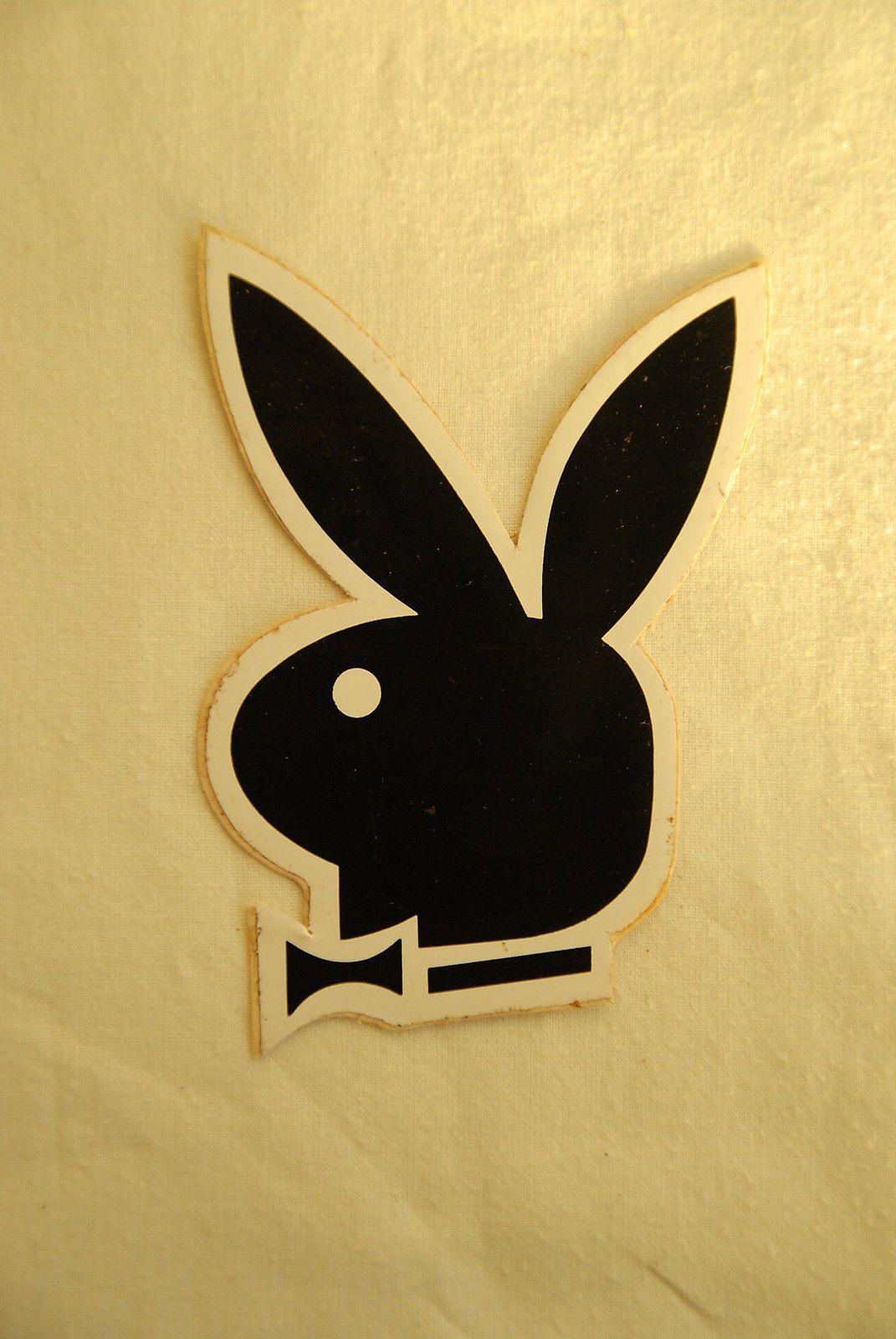 Vintage 1980s vending machine black white playboy bunny sticker stickers pinterest playboy bunny vending machine and bunny