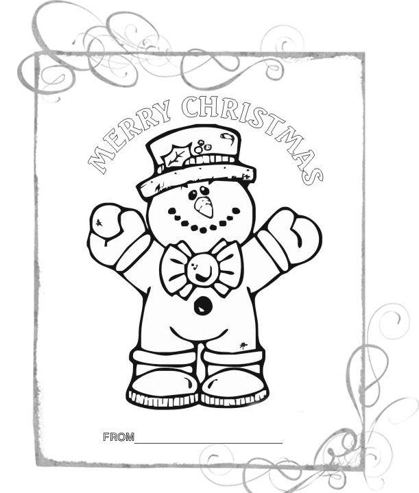 Раскраски на английском языке: Рождество (Рождественская ...