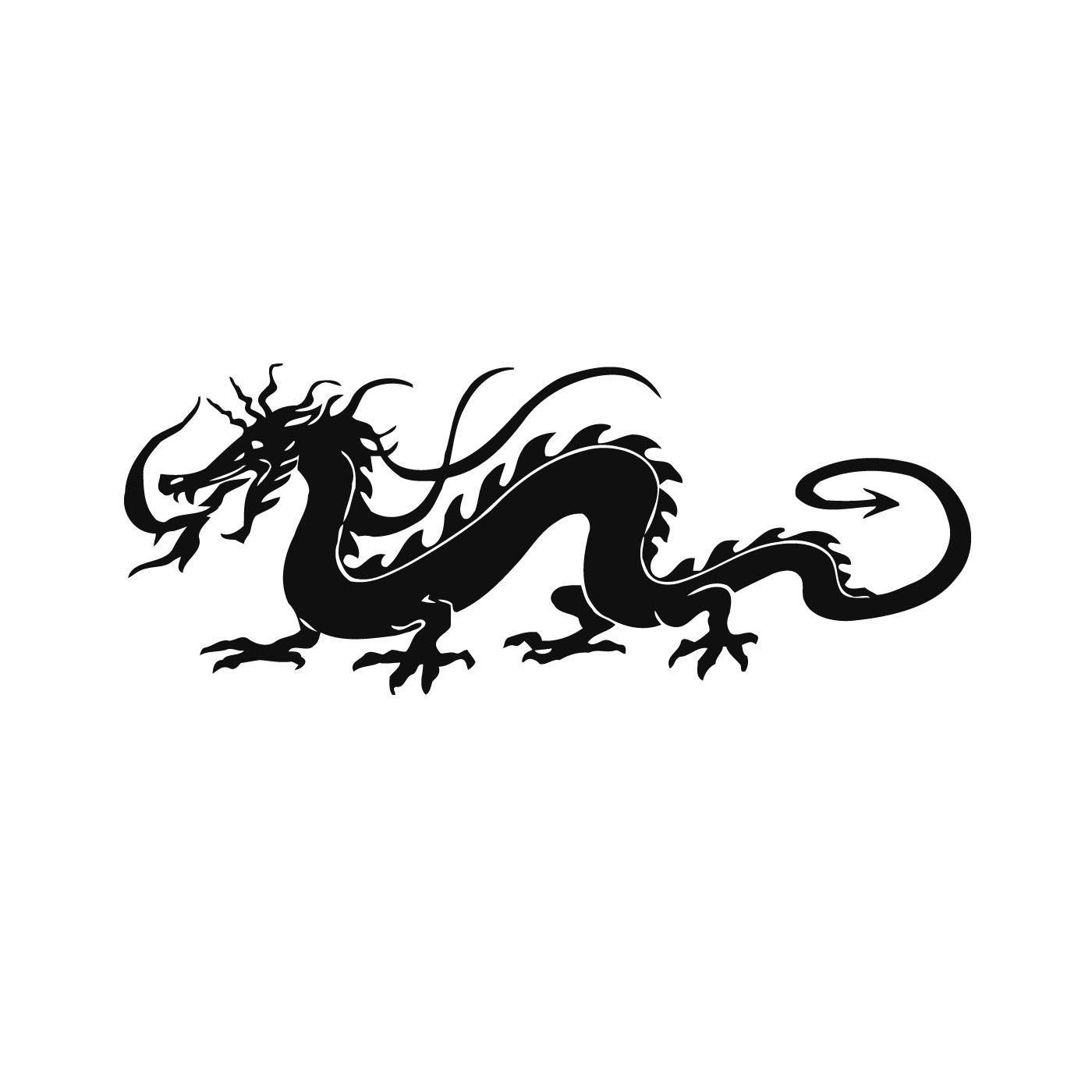 Китайские драконы картинка трафарет