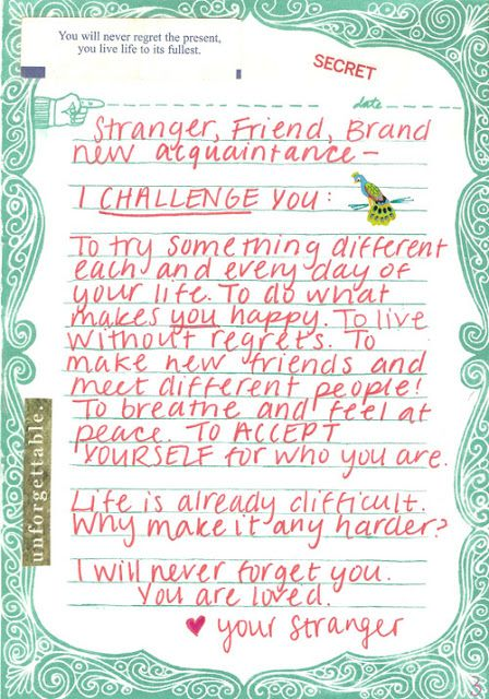 Letters From Strangers You Send Me An Anonymous Letter Written To