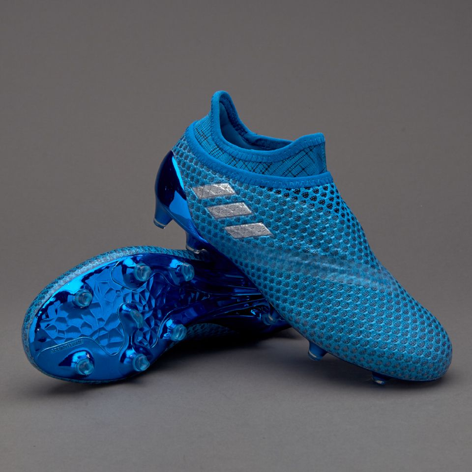 quality design 7da8a 1f166 adidas Messi 16+ Pureagility Kids FG AG - Shock Blue Silver Metallic Core  Black