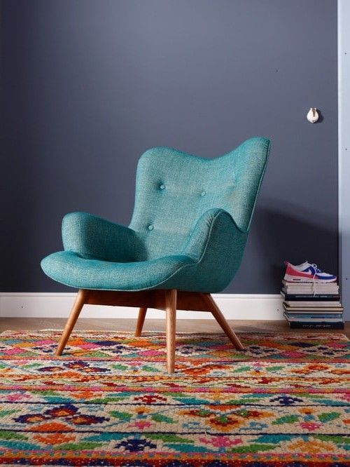 Best Blue Nice Teal Comfy Chair With Wooden Leg Comfy Chairs 400 x 300