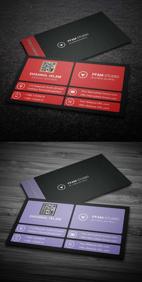 36 Modern Business Cards Examples for Inspiration - 8 | ideas 4 ...