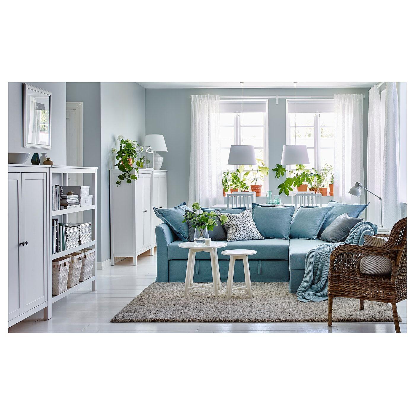 Holmsund Sleeper Sectional 3 Seat Orrsta Light Blue Ikea Blue Living Room Decor Light Blue Couch Living Room Light Blue Sofa