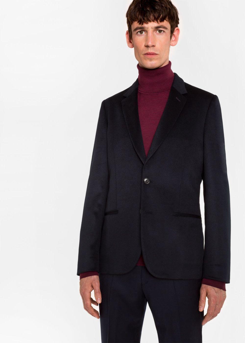 9e1c743795d75 PAUL SMITH Men's Tailored-Fit Dark Navy Unlined Cashmere Blazer. #paulsmith  #cloth #