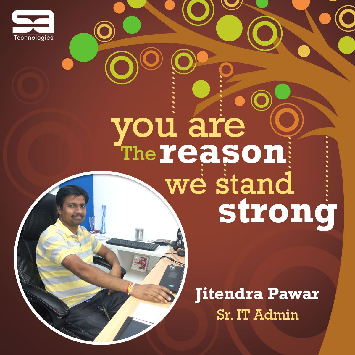 congratulations to jitendra pawar on completing years sa congratulations to jitendra pawar on completing 5 years sa technologies inc we want to