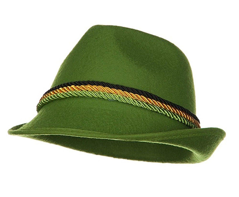 143384c8f Amazon.com: Green Alpine Bavarian German Felt Hat Oktoberfest ...