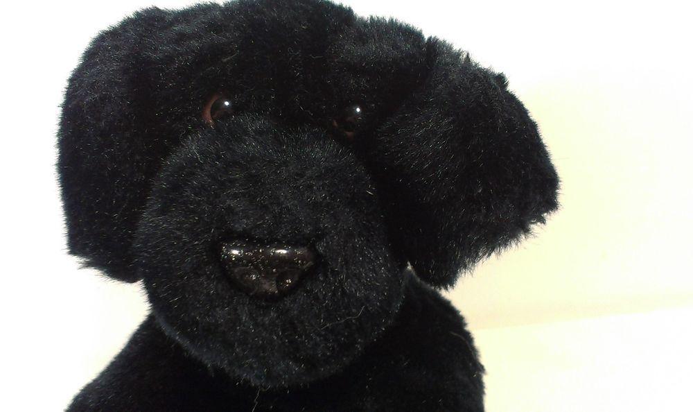 Aurora Labrador Puppy Dog Black Lab Stuffed Animal Plush Beanie Red