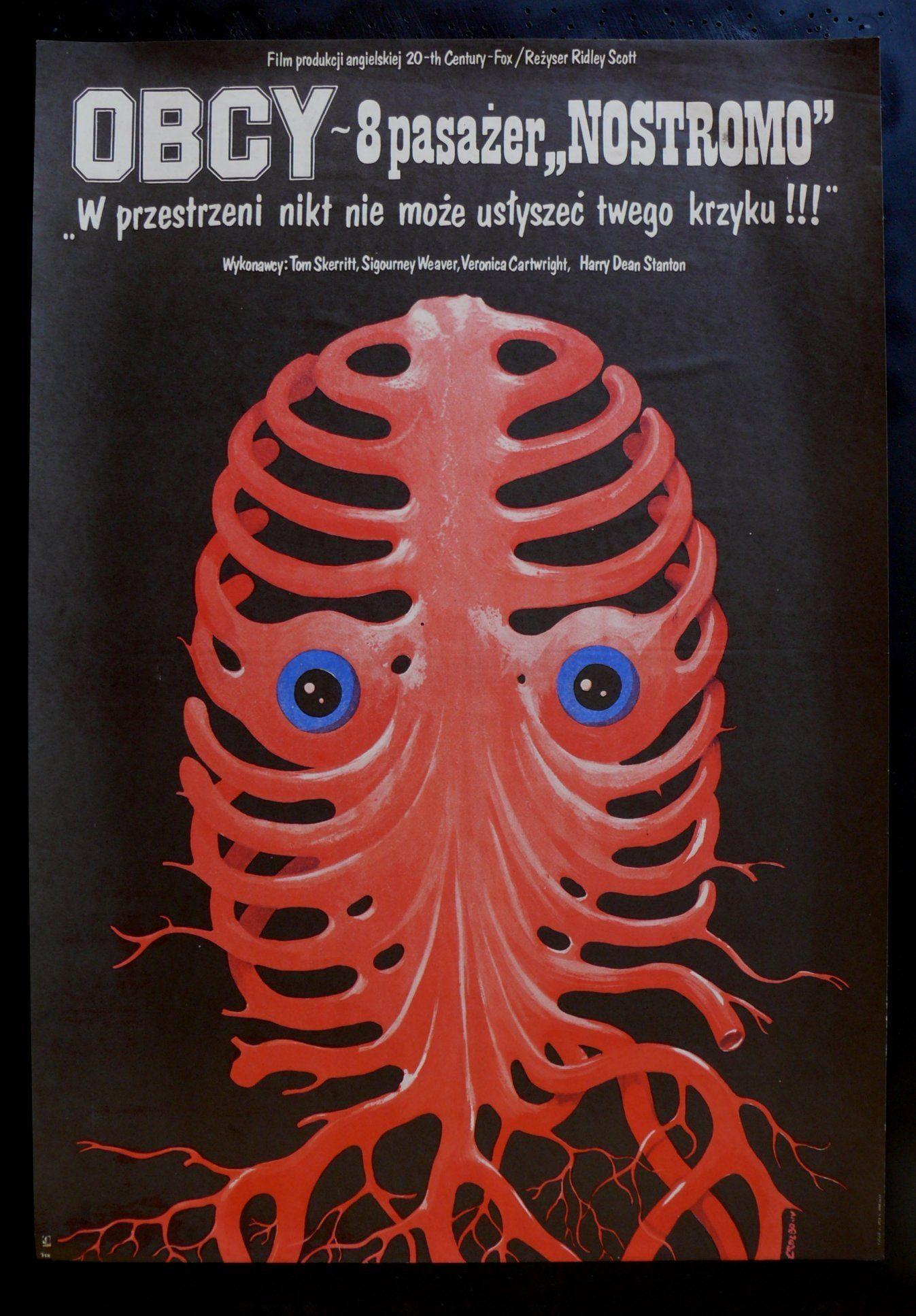 Alien 1979 surrealistic polish poster polish movie
