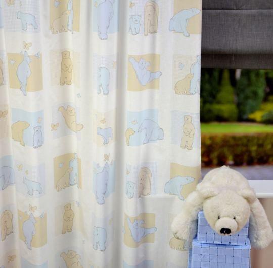 Blauw / Geel Gordijn Bears | Est. Bears 187303 | Kindergordijnen ...