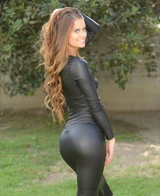 Milf ass in catsuit