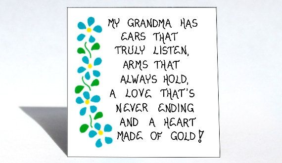 Grandma Magnet Grandmother quote Nana by ...