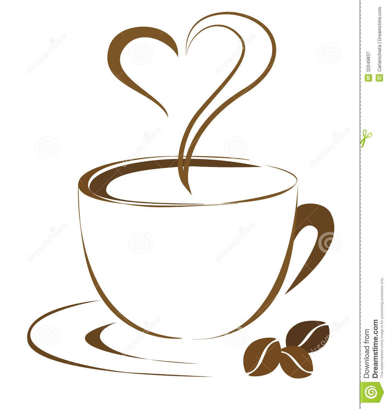 coffee cups clipart heart