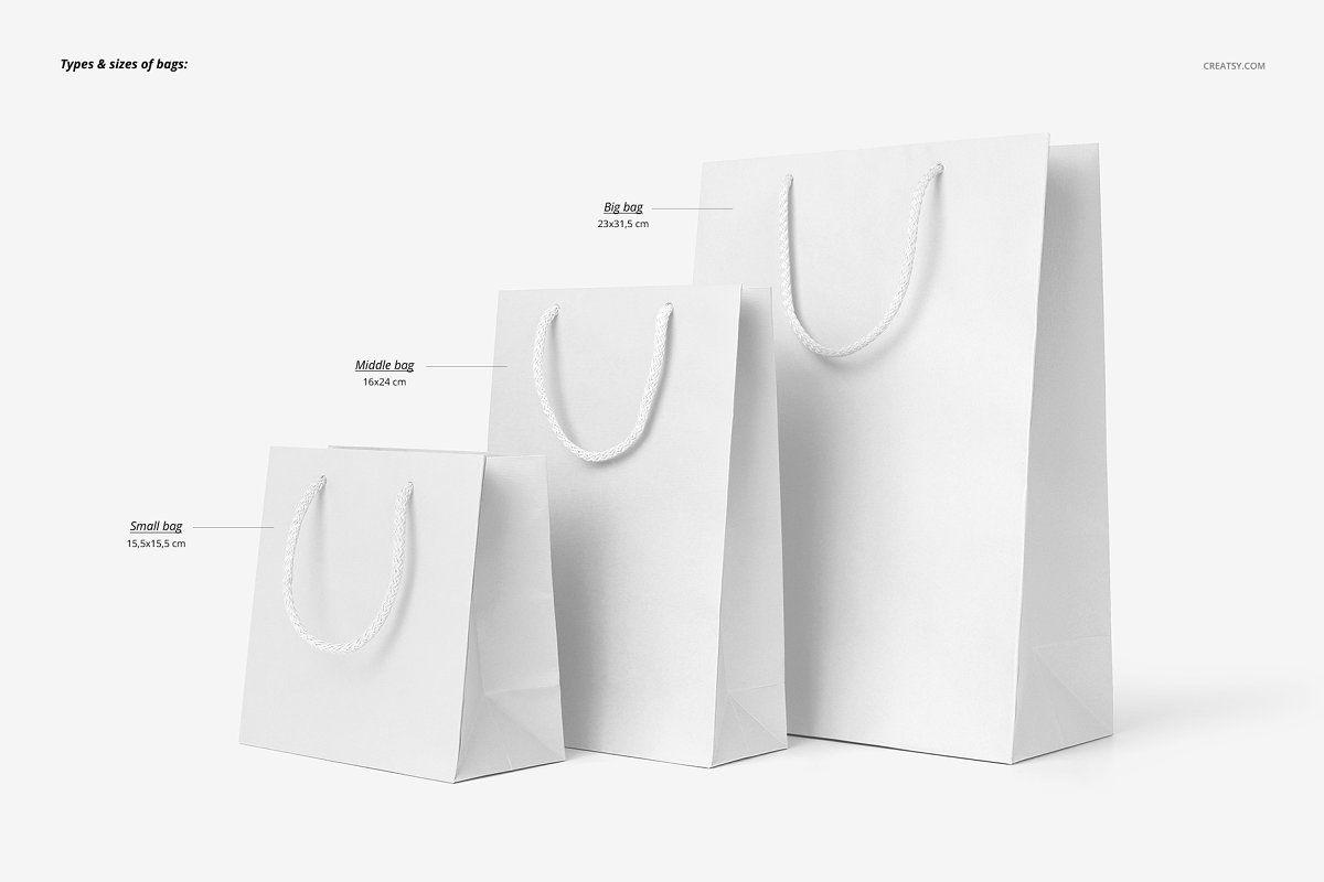 Download Paper Bags Mockup Set Bag Mockup Paper Bag Icon Design Inspiration