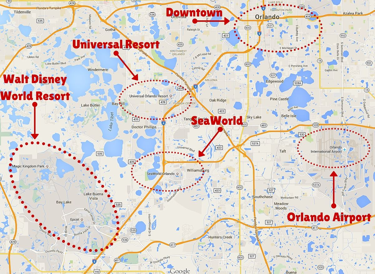 Map Of Orlando Theme Parks Getting Around the Orlando Theme Parks | Disney | Orlando theme