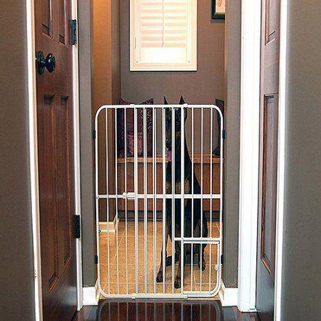 Carlson Pet Products Extra Tall Tuffy Pet Gate Metal Decks