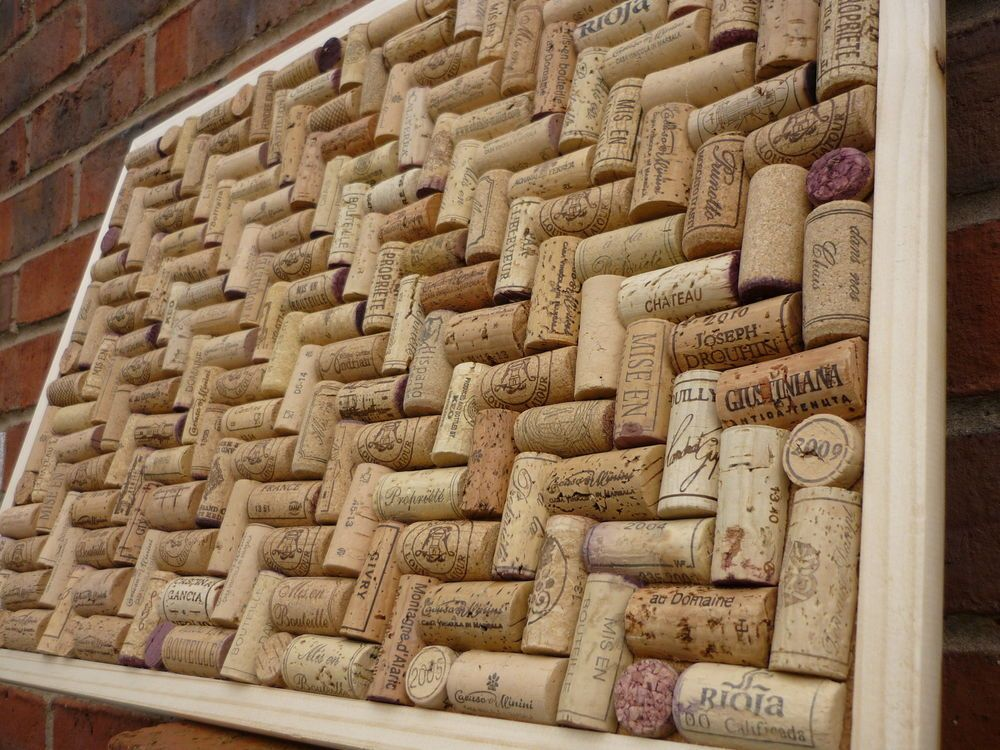 Cork notice / pin / memo board made from Wine Corks size