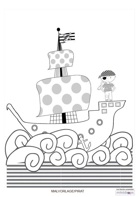 Pirat Malvorlage Craft Ideas Piratenschiff Basteln