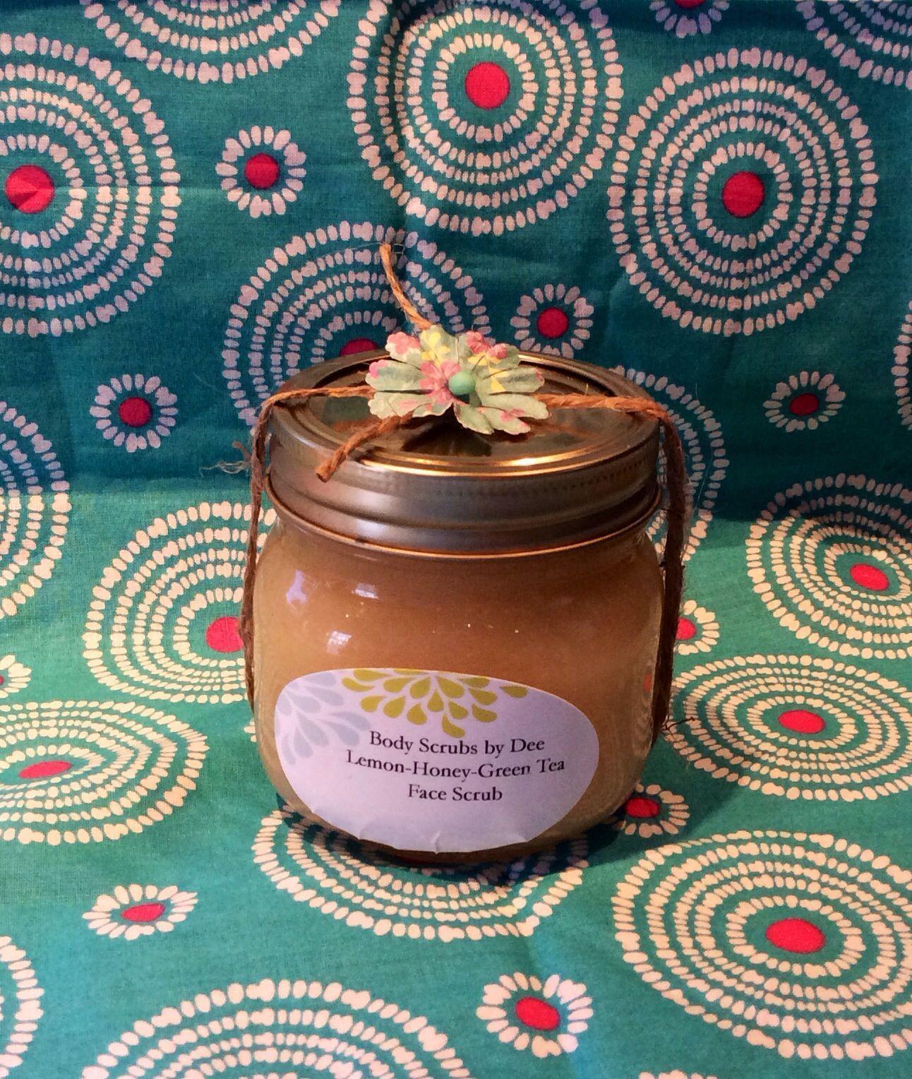 Lemon/Honey/Green Tea Sugar Face Scrub! Great for acne