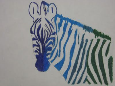 Miss Young S Art Room 6th Grade Analogous Color Zebras Art