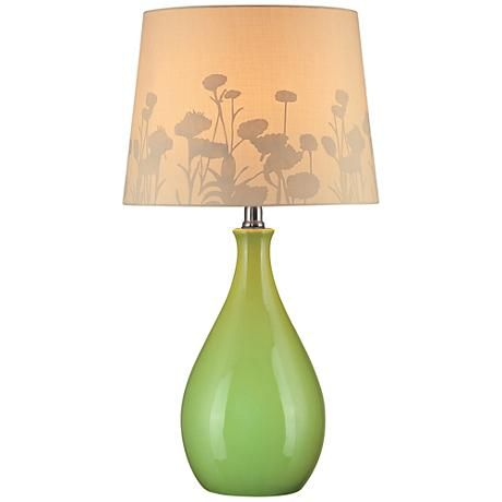 Lite Source Edaline Green Ceramic Modern Table Lamp 1n863 Lamps Plus Table Lamp Lamp Green Table Lamp