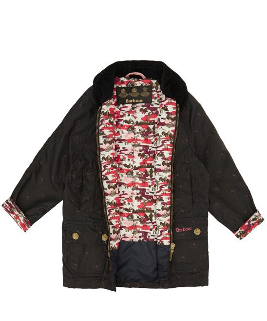 1abd04ac2 Barbour Children Age 2 to 12 Hello Kitty Print Beadnell Wax Jacket | Kids |  Liberty.co.uk