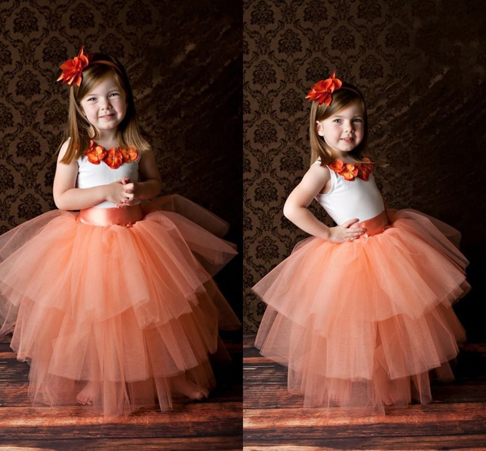 Find more flower girl dresses information about sweet appliques long