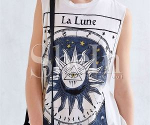 White Sleeveless La Lune Print Tank Top. Fashion : Tops : Tank Tops & Camis White Sleeveless La Lune Print Tank Top - See more at: http://spenditonthis.com/cat-13-fashion-newest.html#sthash.V1kLT7l9.dpuf