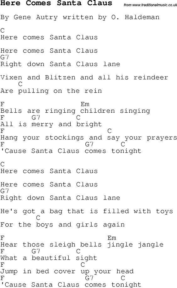 Lyric jingle jangle jingle lyrics : Christmas Songs and Carols, lyrics with chords for guitar banjo ...