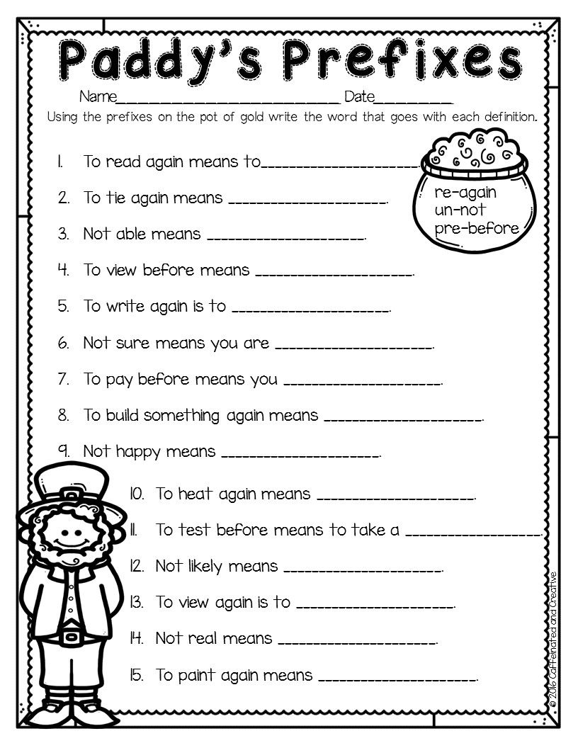 Suffixes Worksheets For 2nd Grade Second Grade Prefixes Worksheets In 2020 Suffixes Worksheets Third Grade Grammar Worksheets Prefix Worksheet